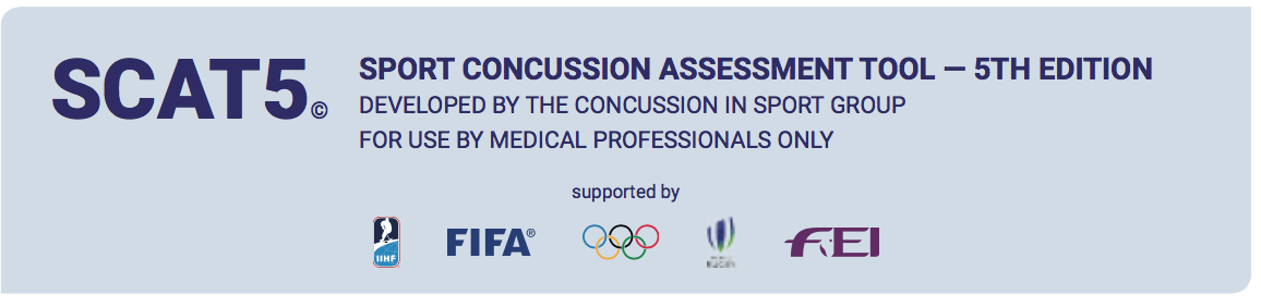 image relating to Scat 3 Printable Form named Your Advisor toward the SCAT 5 Revision The Concussion Channel